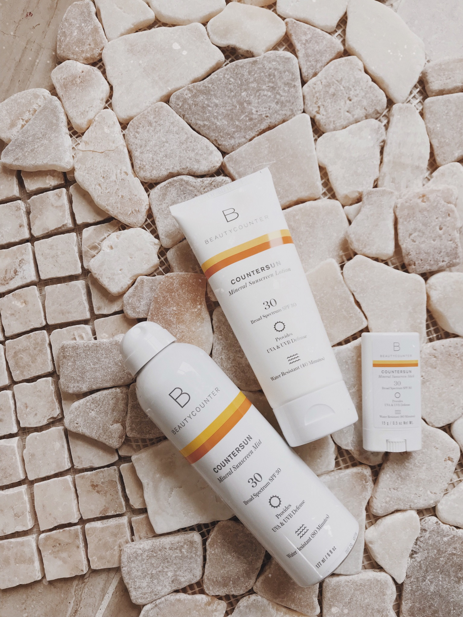 talking about sunscreen safety and why to choose mineral over non-mineral (chemical) options with Beautycounter